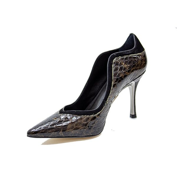 SCARPIN ESTAMPA CROCO