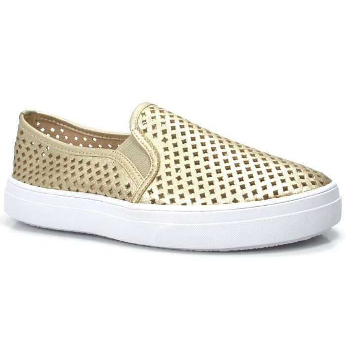 SLIP ON COURO OURO LIGHT