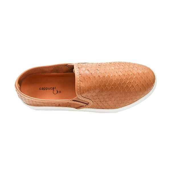 TÊNIS SLIP ON ESCAMADO CAMEL