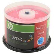 DVD-R HP TUBO LACRADO 16X COM 50 UND