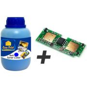 Kit de Recarga p/ Toner Samsung CLP-600 Cyan