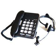 Telefone com headset Leadership Mod. 5125 Preto