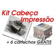 Kit Cabeça de Impressão Epson Stylus Color R270  c/ 6 Catuchos GRÁTIS !!