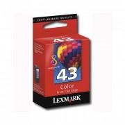Cartucho Lexmark 43XL Original 18Y0143 Color SEM CAIXA
