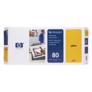 Cabeça de Impressão HP 80 C4823A Yellow | 1050 | 1055