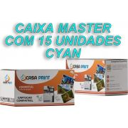 Caixa Master Toner HP 125A Compatível CB541A Cyan | CP1215 | CM1312 | CP1515 | 15 unid