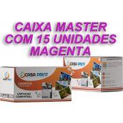 Caixa 15 Unid Toner  HP 125A Compatível  CB543A Magenta CP1215