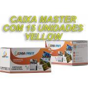 Caixa Master Toner HP 128A Compatível CE322A Yellow | CM1415 | CP1525 | 15 unid