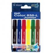 Caneta HidrogrA¡fica Color 850 junior c/ 6 cores - Pilot