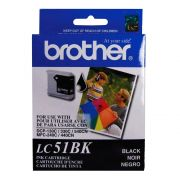Cartucho Brother Original LC51BK | LC-51BK Black | DCP-130 | 330C | 540CN | MFC-240C | 440CN