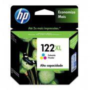 Cartucho HP 122XL Original CH564HB Color | 1000 | 2000 | 2050 | 3050 | SEM CAIXA