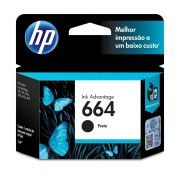 Cartucho HP 664 Original F6V29AB Black | 3636 | 3776 | 3836 | 4536