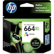 Cartucho HP 664XL Original F6V30AB Color | 3636 | 3776 | 3836 | 4536