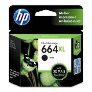 Cartucho HP 664XL Original F6V31AB Black | 3636 | 3776 | 3836 | 4536