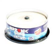 DVD+R DL Nipponic Printable Dual Layer 240 min / 8.5Gb 8x - Pack 25 Midias