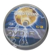 DVD-R DOTCOM (1x-8x) 9.4 GB 240 min TUBO COM 25 UND