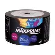DVD-R Maxprint Printable 120 min / 4.7Gb 16x - Pack 50 Midias