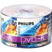DVD-R Philips 120 min / 4.7Gb 16x - Pack 50 Midias