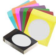 Envelope para CD | DVD Coloridos com visor em Acetato 500 unidades