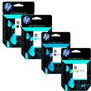 Kit 4 Cabeça de Impressão HP 11 CMYK 100ps 510ps 800ps K850 c4810a c4811a c4812a c4813a