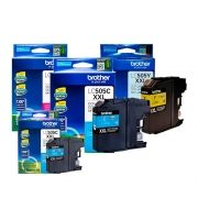 Kit 3 Cartuchos Brother Original LC505C | LC505M | LC505Y  MFC-J200 DCP-J105 DCP-J100