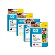 Kit 4 Cartuchos HP 40 Original 51640 CMKY | 230 | 1200
