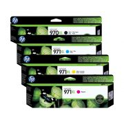 Kit 4 Cartuchos HP 970XL 971XL Original CN625AM |  CN626AM |  CN627AM | CN628AM
