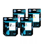 Kit 4 Cartucho HP Original C4844A | C4836A | C4837A | C4838A |  CP1700 | 10ps | 20ps | K850