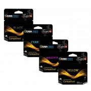 Kit 4 Cartuchos Compatível com HP 11 | HP 10  C4844A | C4836A | C4837A | C4838A |  CP1700 | 10ps | 20ps | K850