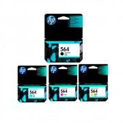 Kit 4 Cartuchos HP 564 Original CMYK | C6380 | D5460 | B8850 | Plus | Fax