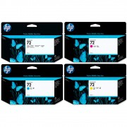 KIT 4 Cartuchos HP 72 Original C9370A C9371A C9372A C9373A