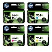 Kit 4 Cartuchos HP 964XL Original CMYK Officejet Pro 9010 9020