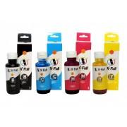 Kit 4 Refis de Tinta HP Compatível GT52 GT53 CMYK M0H54AL M0H55AL M0H56 ALM0H57AL