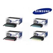 Kit 4 Toner Samsung Original CLP-660B CMYK   CLP-610   CLP-660   CLX-6200