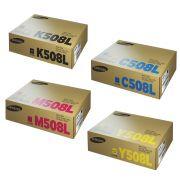 Kit 4 Toner Samsung Original CLT-K508L | CLT-C508L | CLT-M508L | CLT-Y508L | CMYK | CLX-6250 | CLP-670 | CLX-6220 | CLP-620