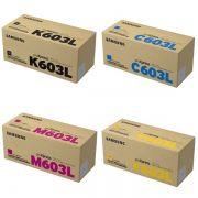 Kit 4 Toners Samsung Original CLT-CMYK603L | C4010ND | C4060FX