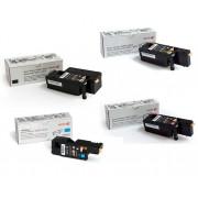 Kit 4 TONERS XEROX 106R02758 60 61 63  BLACK ORIGINAL 6020 6020BI 6022