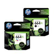 Kit Cartucho HP 664XL Original F6V30AB Color | F6V31AB Black | 3636 | 3776 | 3836 | 4536