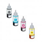 Kit Refil de Tinta Epson T504 Compatível CMYK L4150 L4160 L6191 L6161 L6171