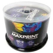 Mídia Gravável Blu Ray BD-R MAXPRINT 25 GB | 135 min | 25 unidades Printable