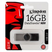 Pen Drive Kingston 16GB Preto DT101G2/16 USB 2.0