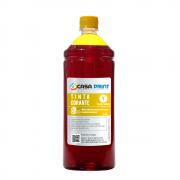 Refil Tinta para HP Universal Yellow 1 litro Corante