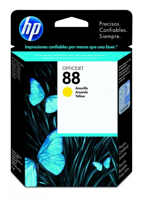Cartucho HP 88 Original C9388AL Yellow | K550 | K8600 | K5400 | L7590