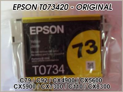 Cartucho Epson Original T073420 Yellow ´Sem Caixa´