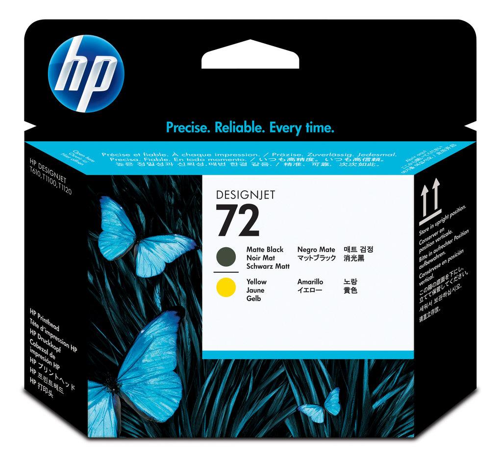 Cabeça de Impressão HP 72 C9384A Matte Black | Yellow  | T610 | T790 | T1100 | T2300 | L3S82A