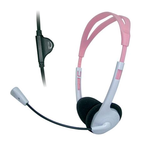 Headset Bright Arco-íris 0202 Rosa c/ microfone