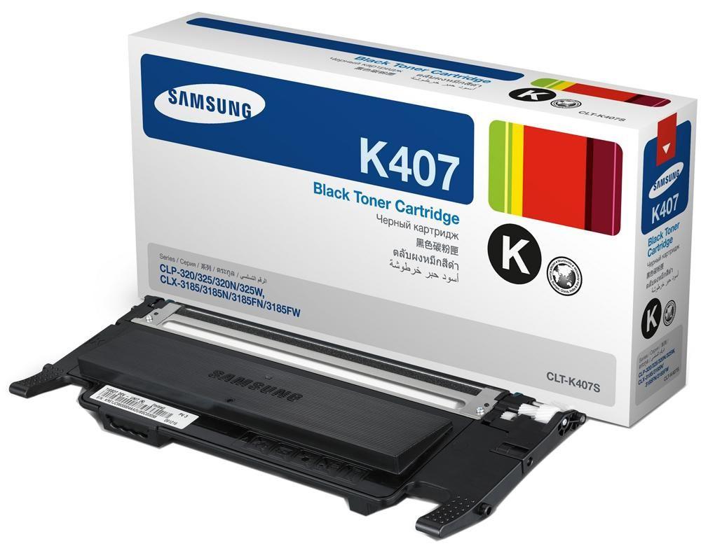 Toner Samsung Original CLT-K407S Black | CLP-320 | CLP-325 | CLX-3185