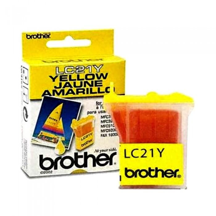 Cartucho Brother Original LC21Y   LC21Y  Yellow   MFC-3100C   MFC-5100C   IntelliFax-1800C