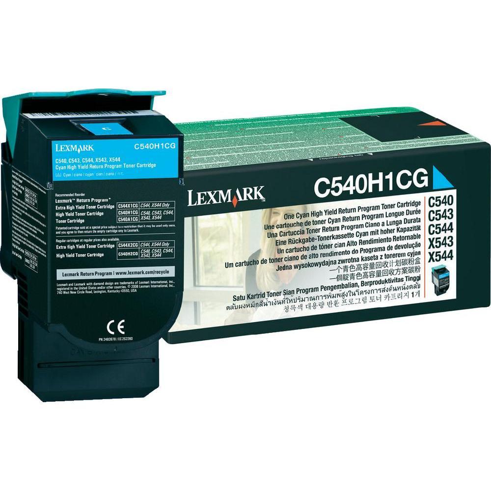 Toner Lexmark C54X Original C540H1CG Cyan C540 | C544 | X543