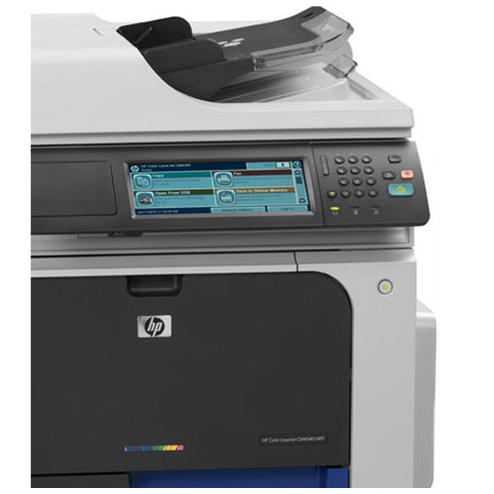 Multifuncional HP LaserJet Enterprise CM4540f MFP Laser Color Fax, Rede e ePrint